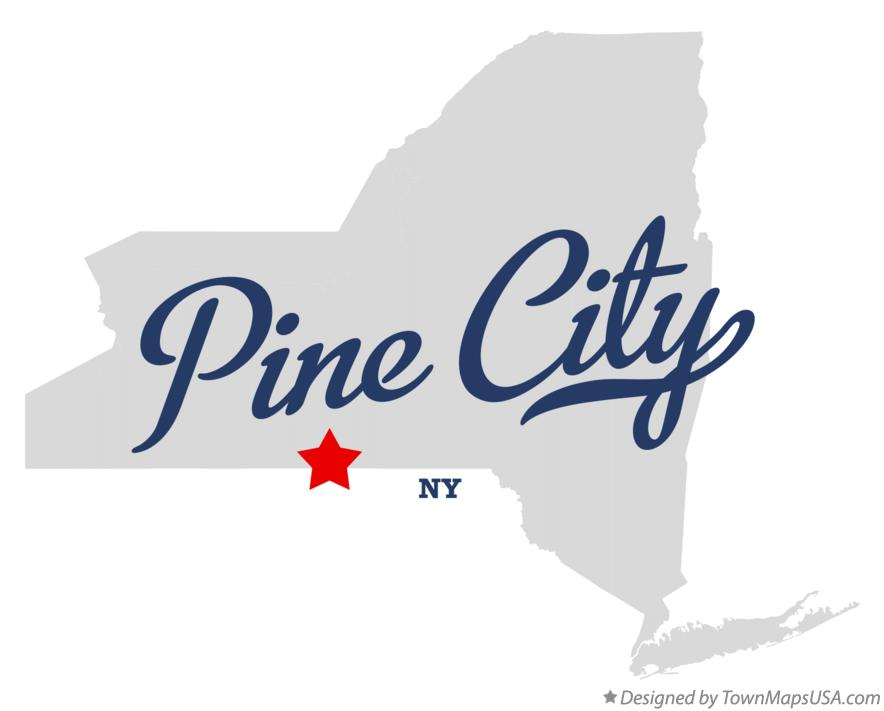 Map of Pine City New York NY