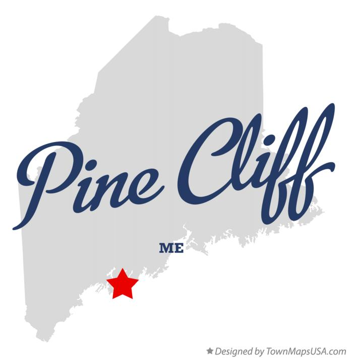 Map of Pine Cliff Maine ME