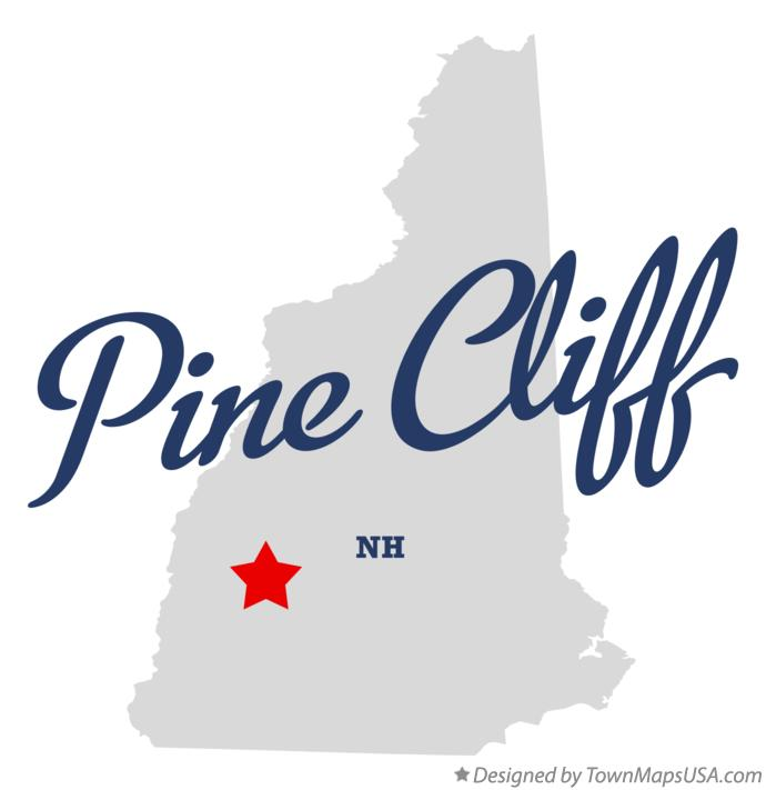 Map of Pine Cliff New Hampshire NH