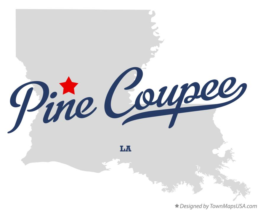 Map of Pine Coupee Louisiana LA