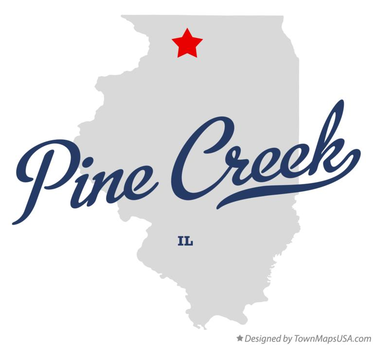 Map of Pine Creek Illinois IL