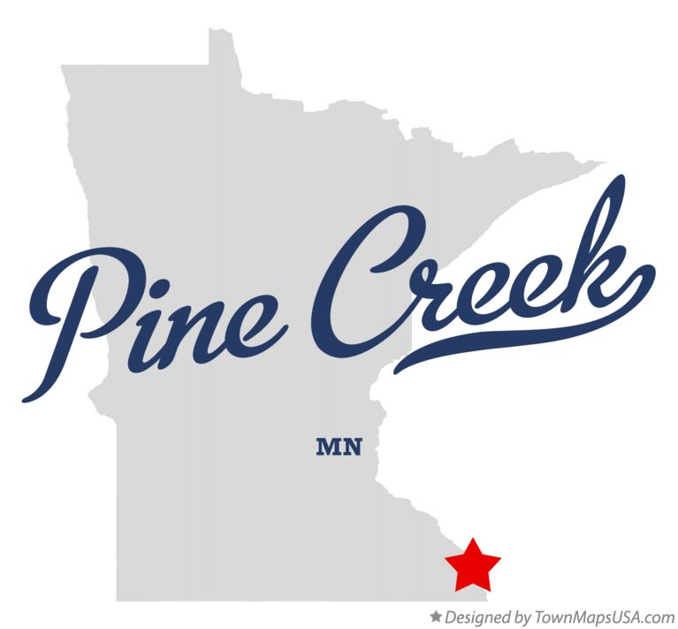 Map of Pine Creek Minnesota MN