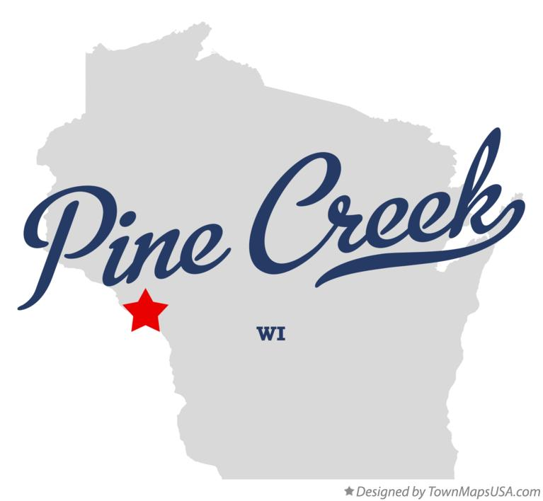 Map of Pine Creek Wisconsin WI