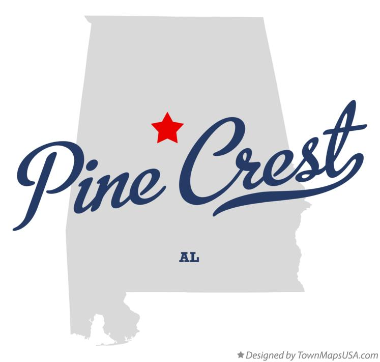 Map of Pine Crest Alabama AL