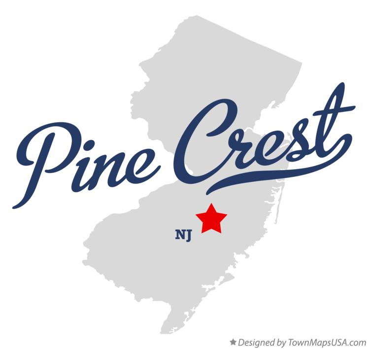 Map of Pine Crest New Jersey NJ