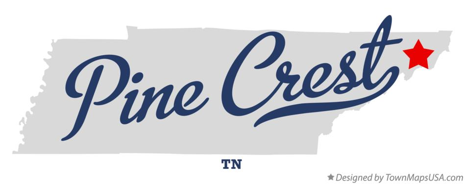 Map of Pine Crest Tennessee TN