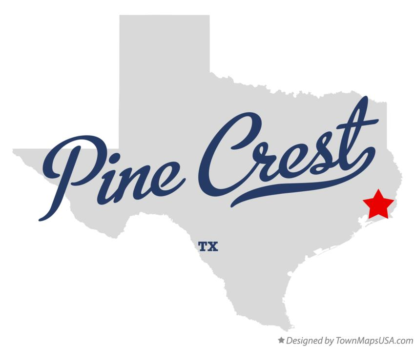Map of Pine Crest Texas TX