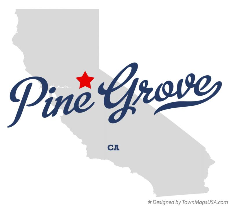 Map of Pine Grove California CA