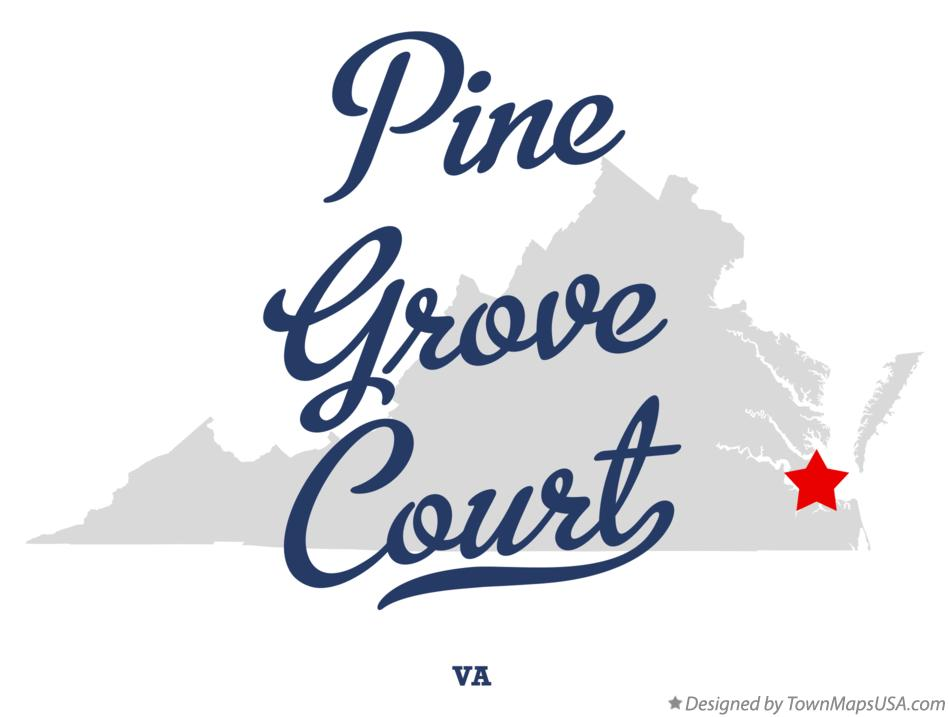 Map of Pine Grove Court Virginia VA