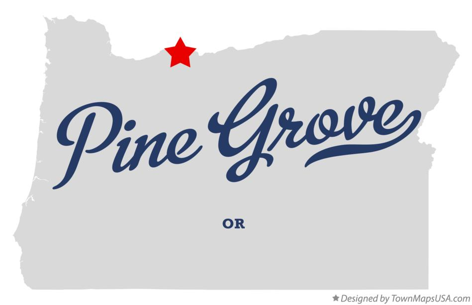 Map of Pine Grove Oregon OR