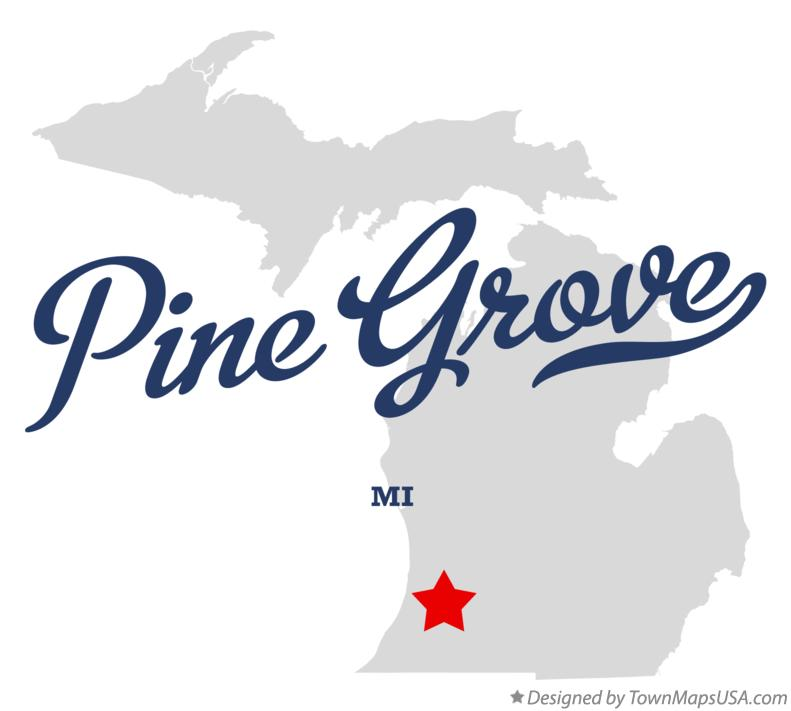 Map of Pine Grove Michigan MI