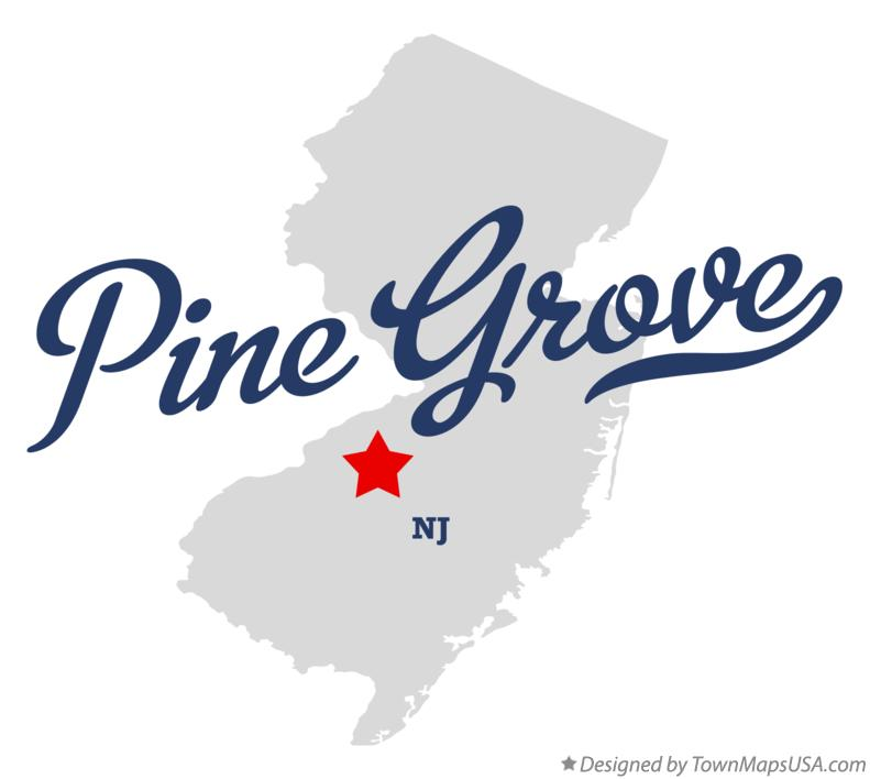 Map of Pine Grove New Jersey NJ
