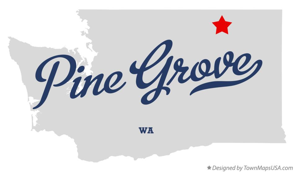 Map of Pine Grove Washington WA
