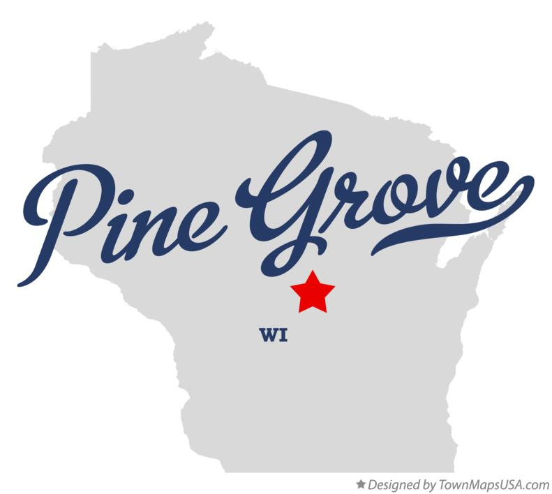 Map of Pine Grove Wisconsin WI