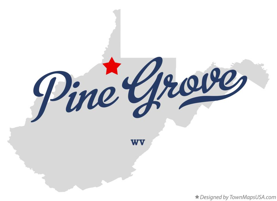 Map of Pine Grove West Virginia WV