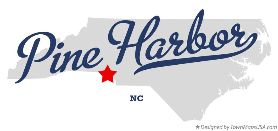 Map of Pine Harbor North Carolina NC