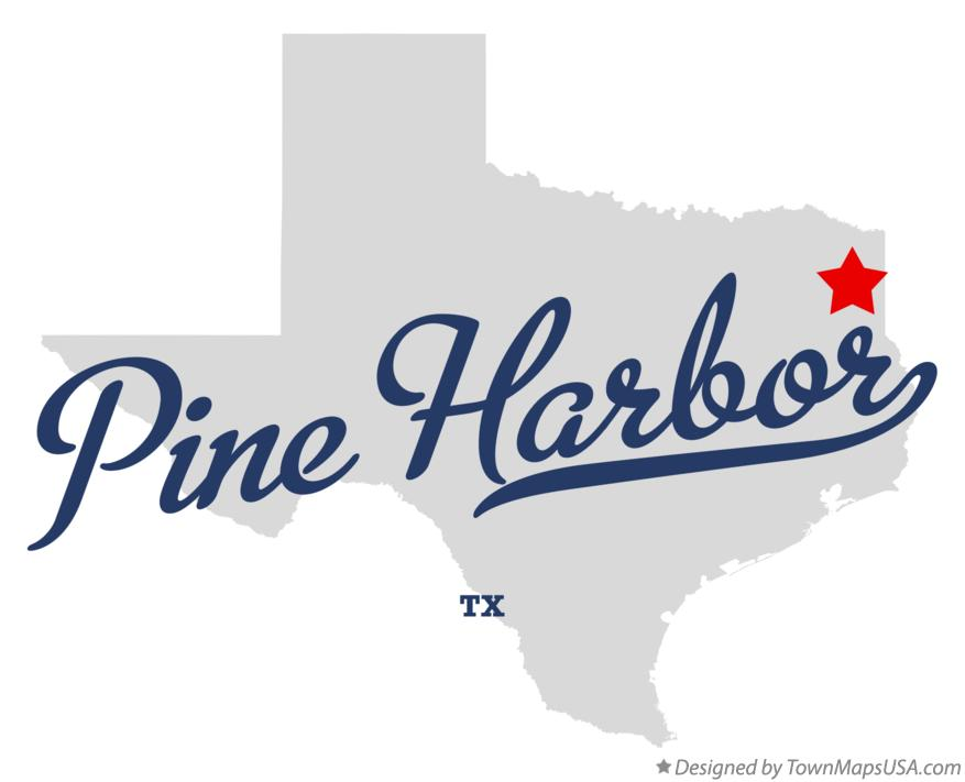 Map of Pine Harbor Texas TX