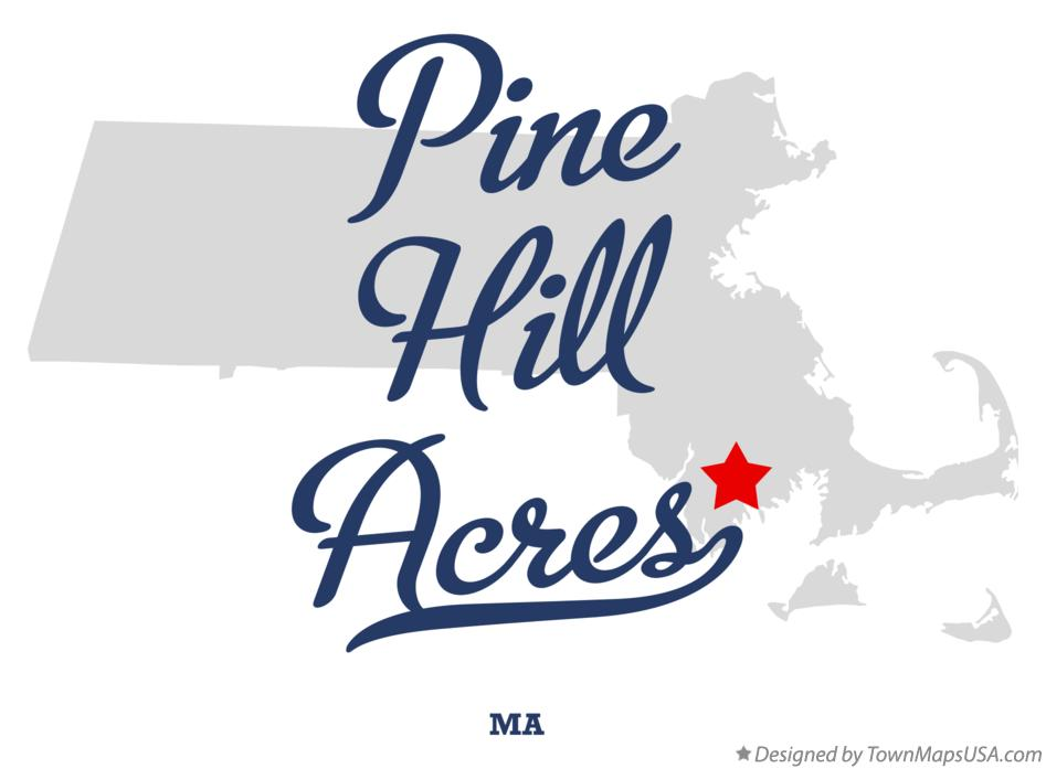 Map of Pine Hill Acres Massachusetts MA