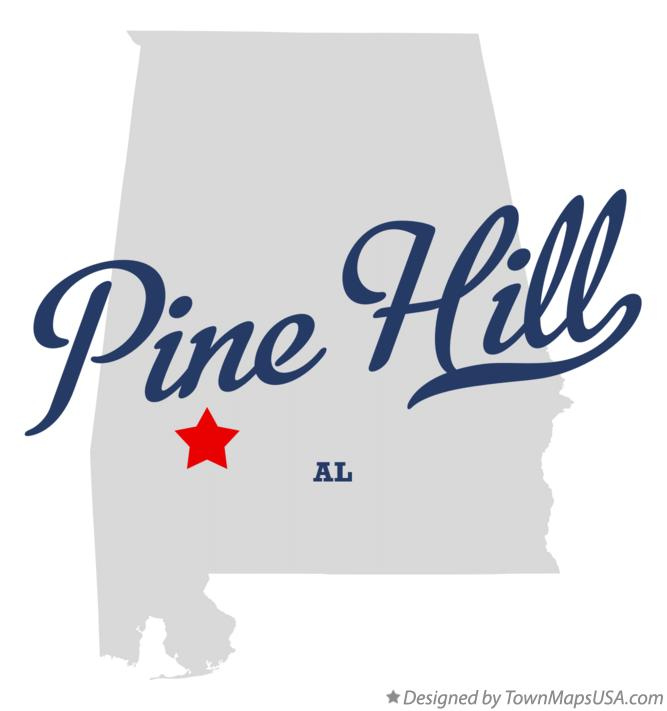 Map of Pine Hill Alabama AL