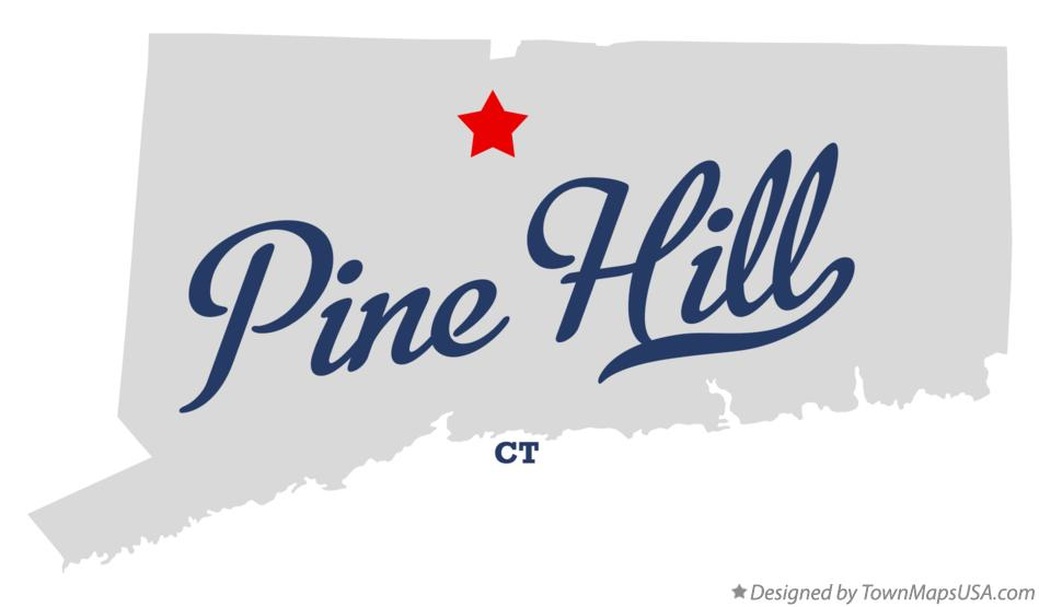 Map of Pine Hill Connecticut CT