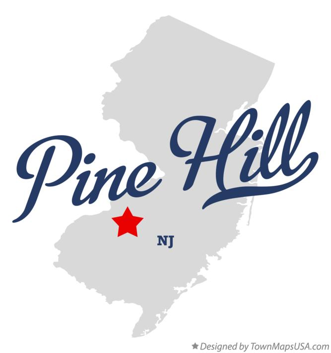 Map of Pine Hill New Jersey NJ