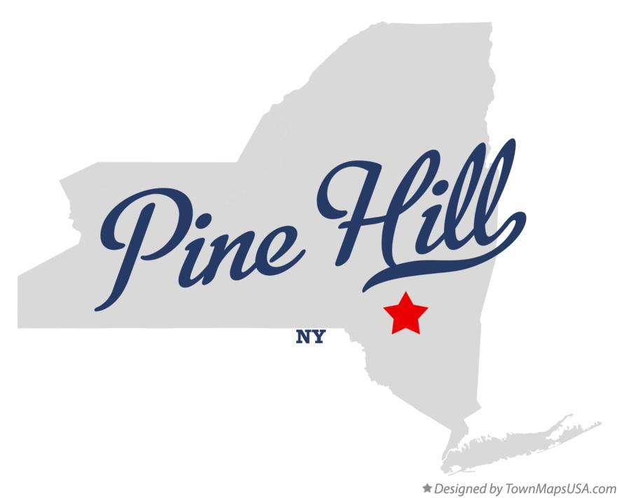Map of Pine Hill New York NY