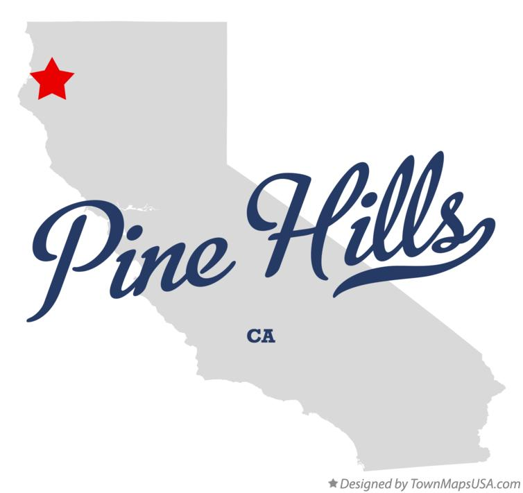 Map of Pine Hills California CA