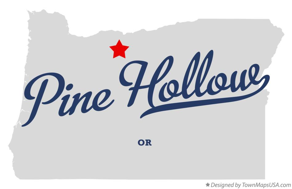 Map of Pine Hollow Oregon OR