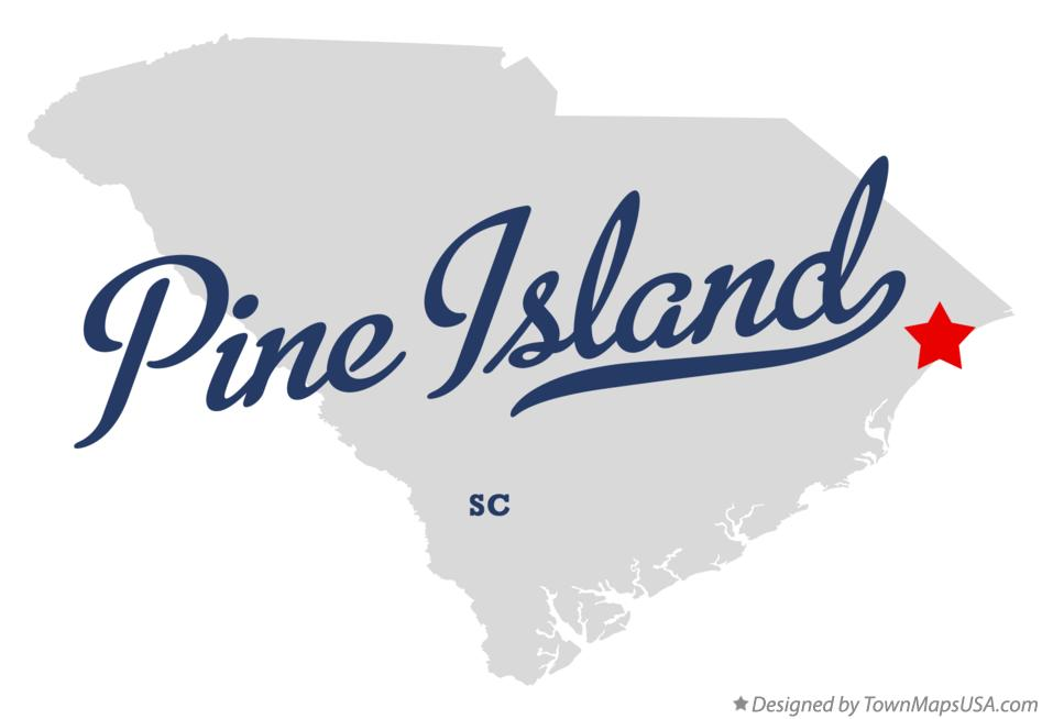 Map of Pine Island South Carolina SC