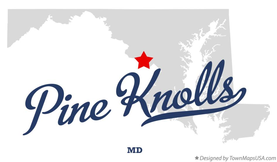 Map of Pine Knolls Maryland MD
