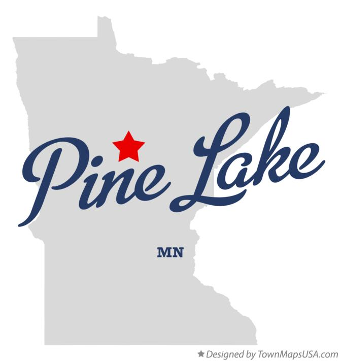 Map of Pine Lake Minnesota MN
