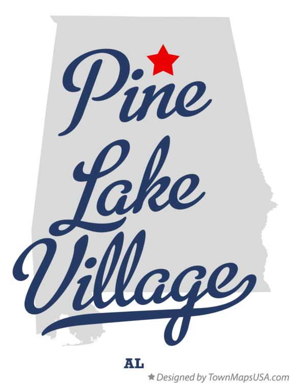 Map of Pine Lake Village Alabama AL