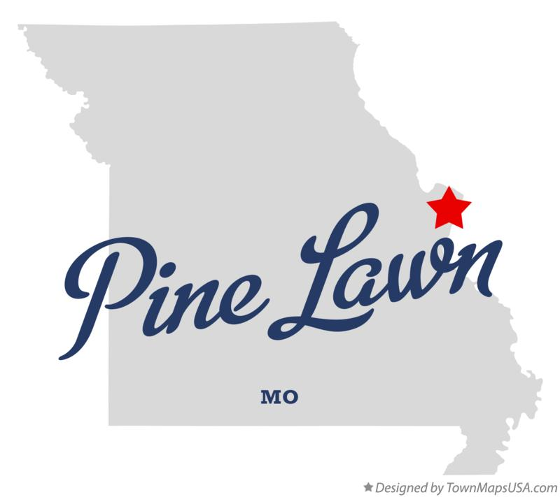 Map of Pine Lawn Missouri MO