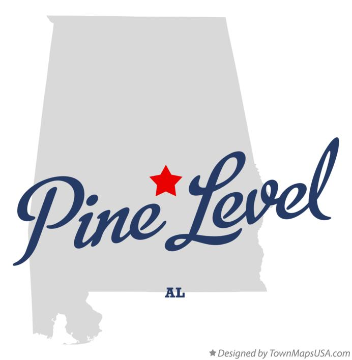 Map of Pine Level Alabama AL