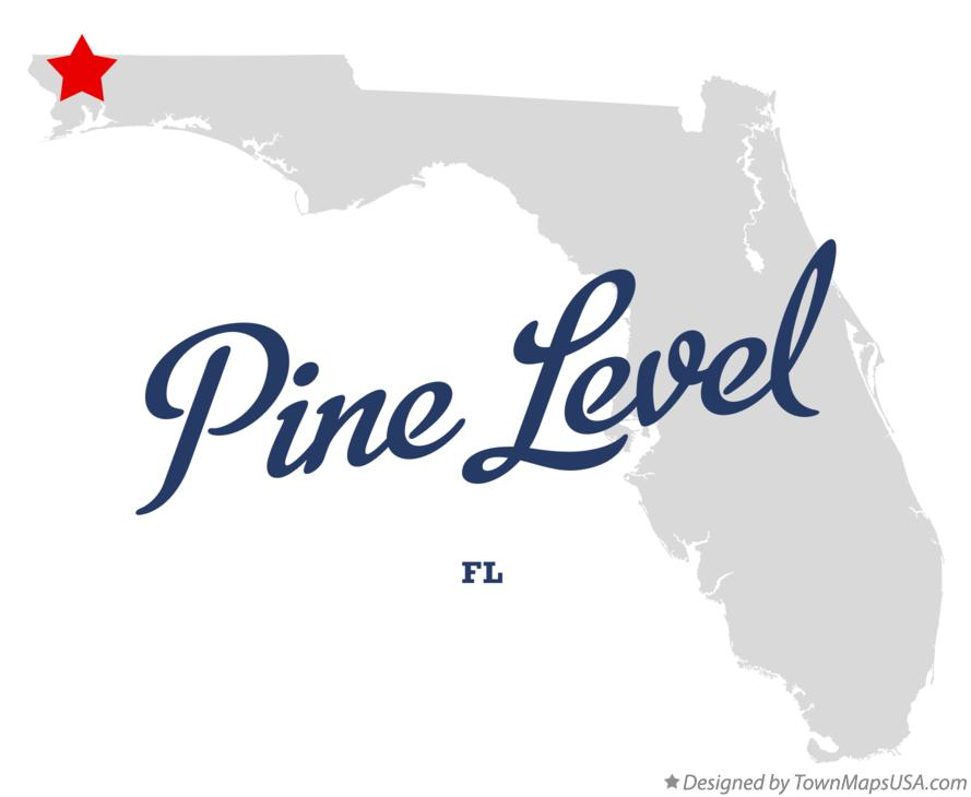 Map of Pine Level Florida FL