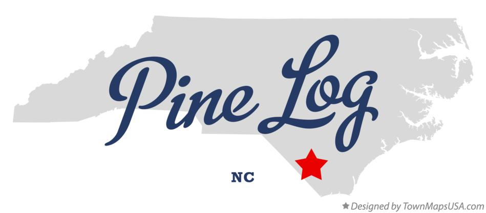 Map of Pine Log North Carolina NC