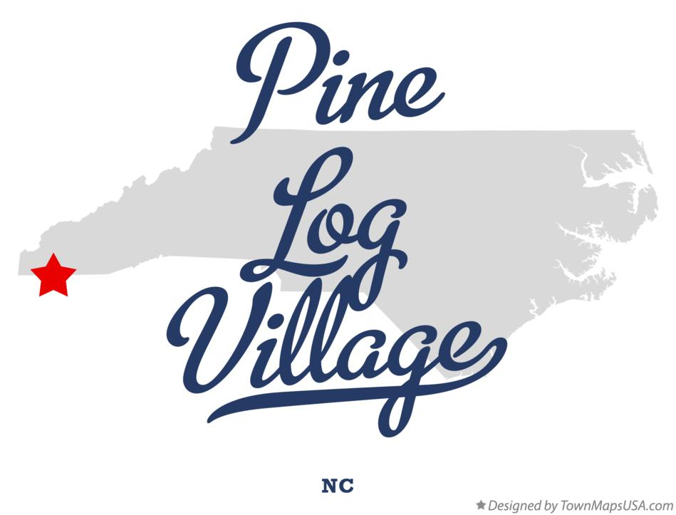 Map of Pine Log Village North Carolina NC