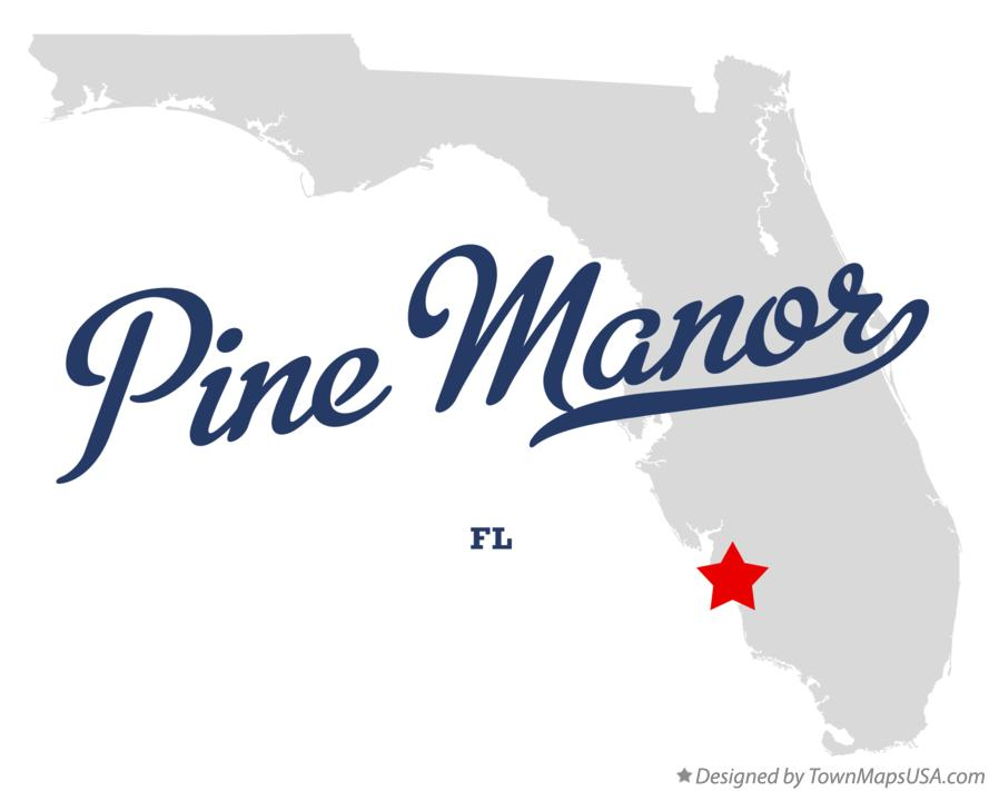 Map of Pine Manor Florida FL