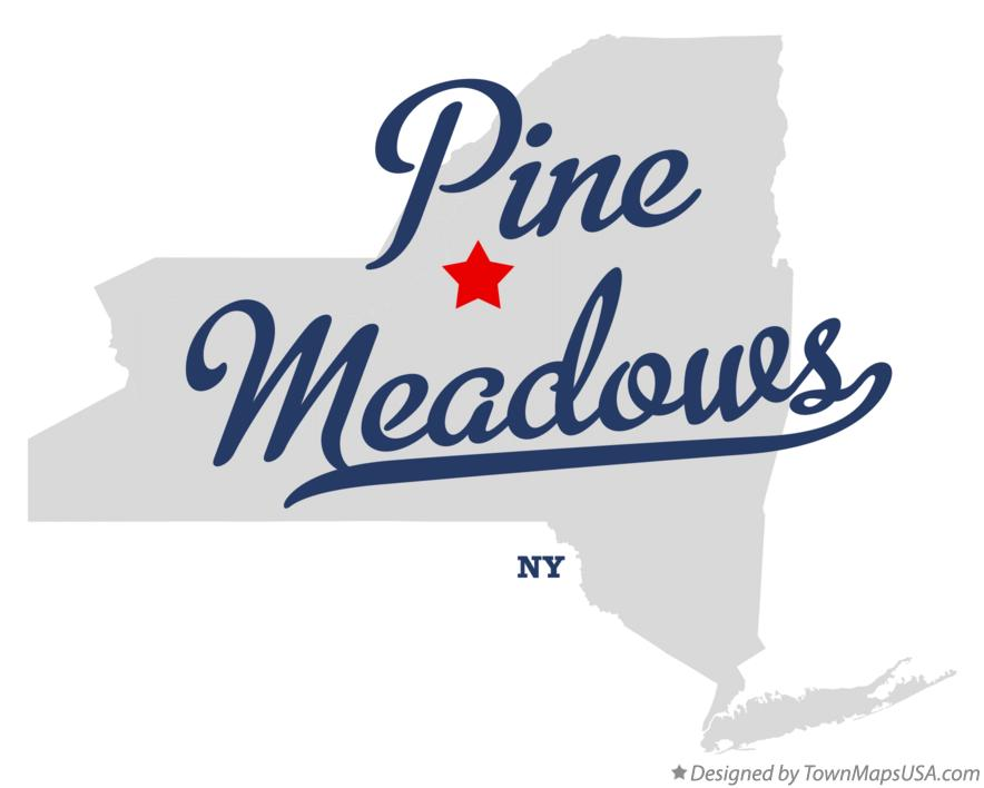 Map of Pine Meadows New York NY