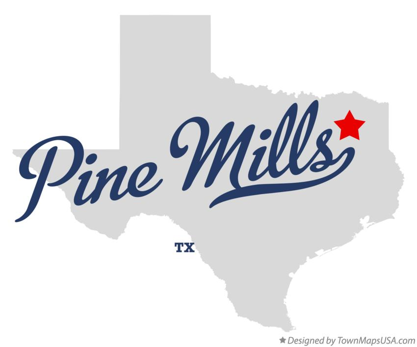 Map of Pine Mills Texas TX