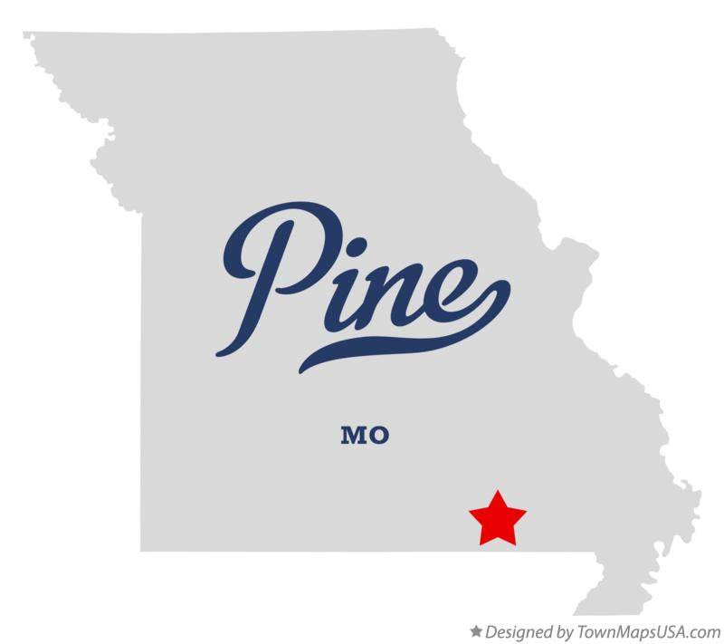 Map of Pine Missouri MO