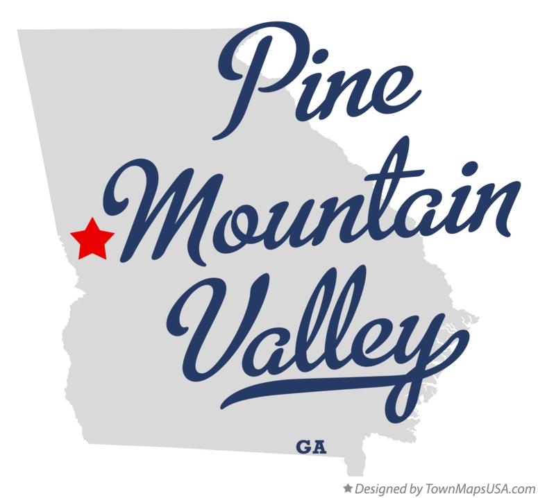 Map of Pine Mountain Valley Georgia GA