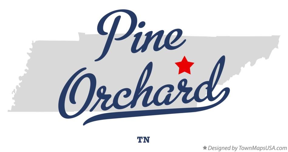 Map of Pine Orchard Tennessee TN