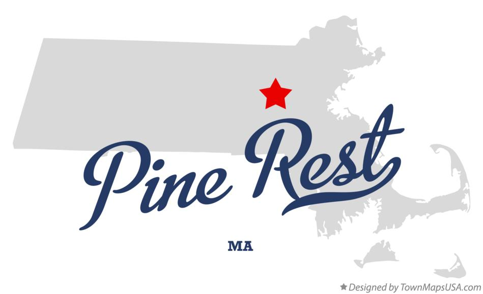 Map of Pine Rest Massachusetts MA