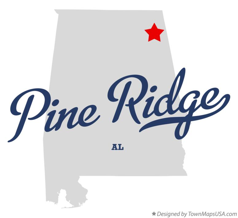 Map of Pine Ridge Alabama AL