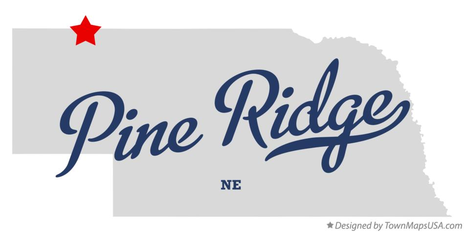 Map of Pine Ridge Nebraska NE