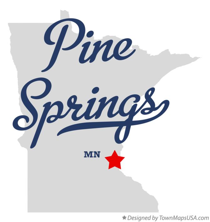Map of Pine Springs Minnesota MN