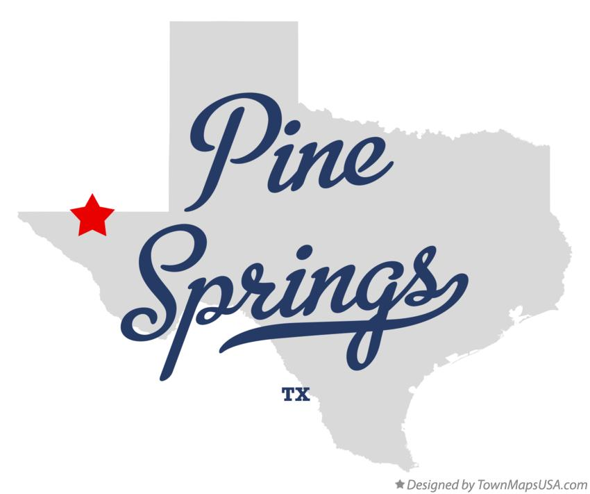 Map of Pine Springs Texas TX