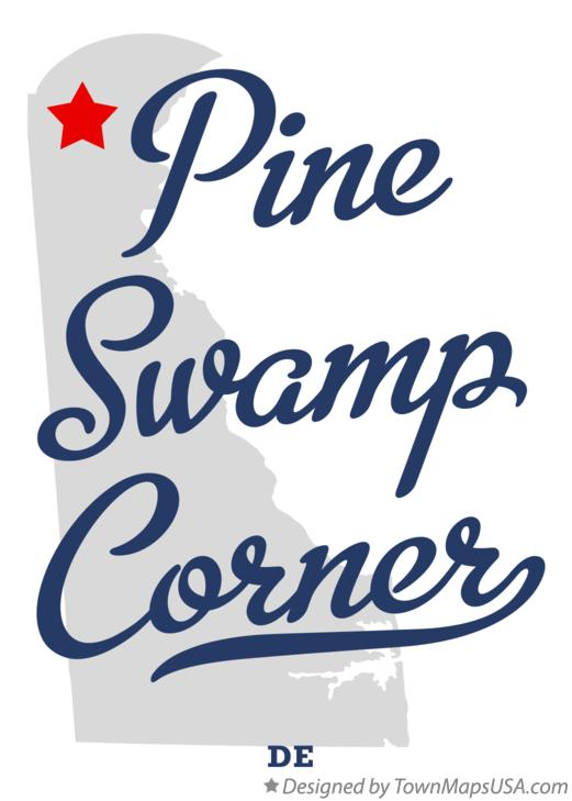 Map of Pine Swamp Corner Delaware DE