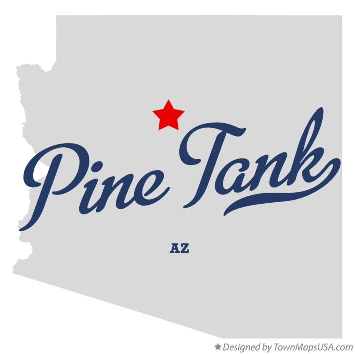 Map of Pine Tank Arizona AZ